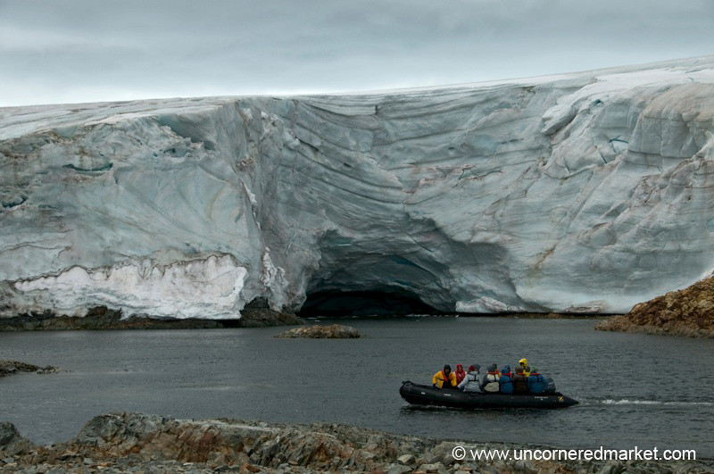 Zodiac Ride Around a Massive Glacier - Antarctica