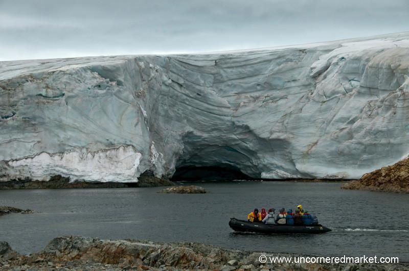 Zodiac Ride Around a Massive Glacier - Antarctica