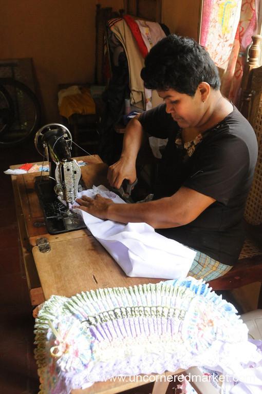 Beginning a New Apron - Masaya, Nicaragua