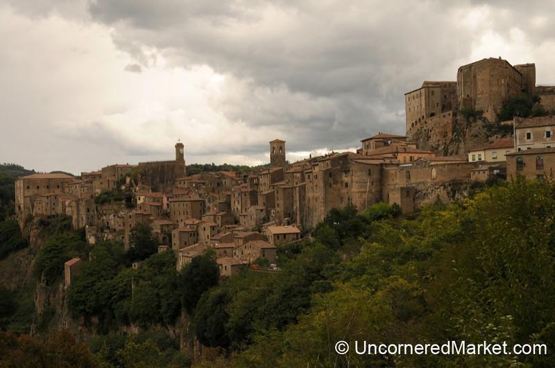 Lovely Hill Town of Sorano in Maremma, Tuscany