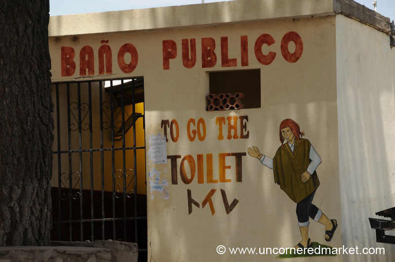 Public Toilet English Troubles - Border Between Peru and Bolivia