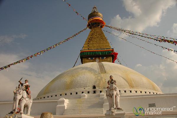 Guarding Boudhanath Stupa - Nepal