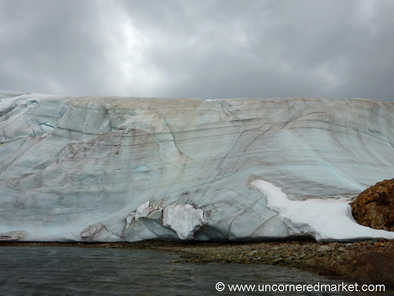 Blue and Pink Ice - Antarctica