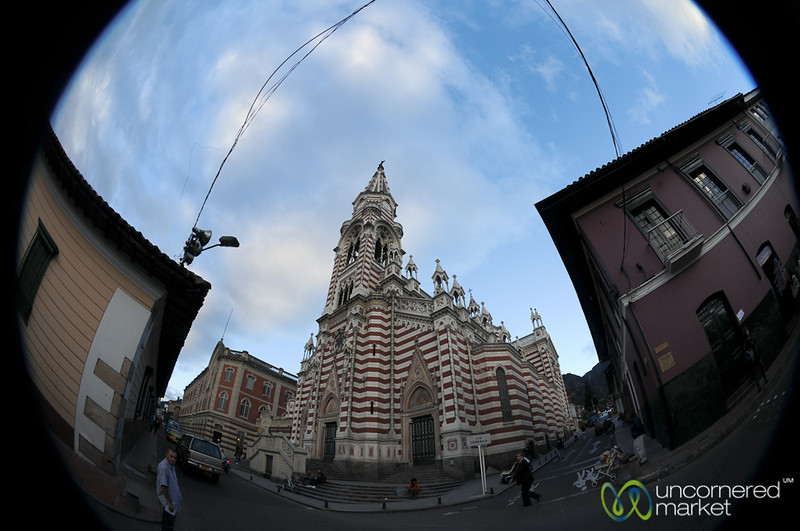 Fisheye View of El Carmen Church - Bogota, Columbia