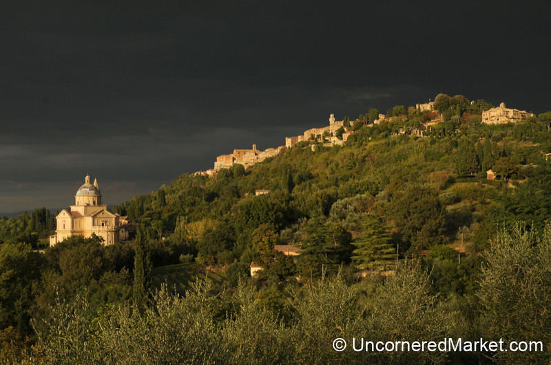 Montepulciano in Late Afternoon Light - Italy