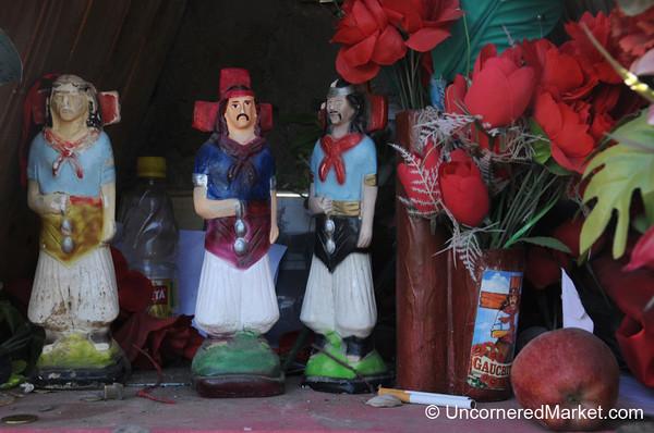 A Colorful Roadside Memorial - Outside Neuquen, Argentina