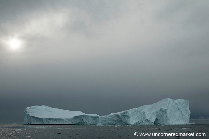 Late Afternoon Light Over an Iceberg - Antarctica