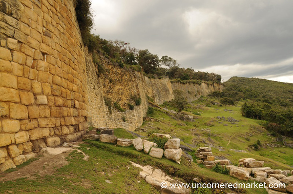 Citadel Wall at Kuelap - Near Chachapoyas, Peru