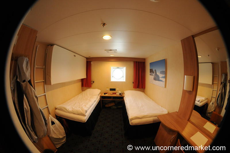 Fisheye View of Our Cabin - Antarctica Trip