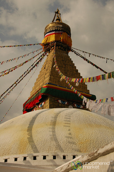 Top of Boudhanath Stupa - Nepal