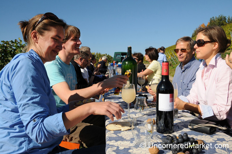Gathering for Lunch - Wine Harvest Event in Thüngersheim, Germany