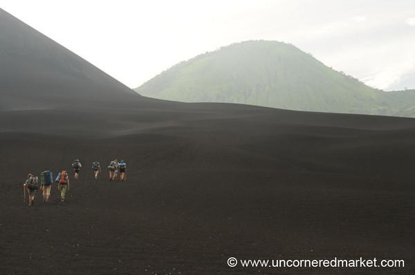 Walking Up the Volcano - Nicaragua