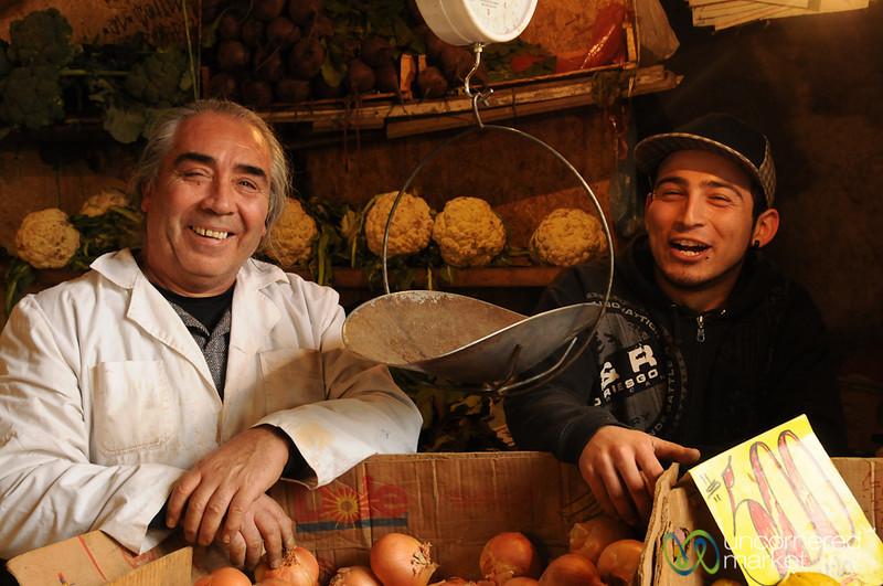 Father and Son at Mercado Cardonal - Valparaiso, Chile