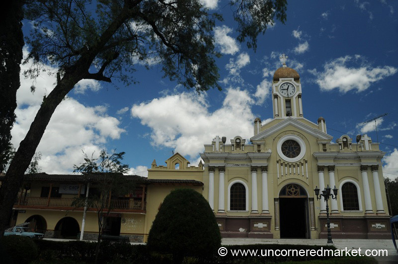 Vilcabamba's Church and Square - Ecuador