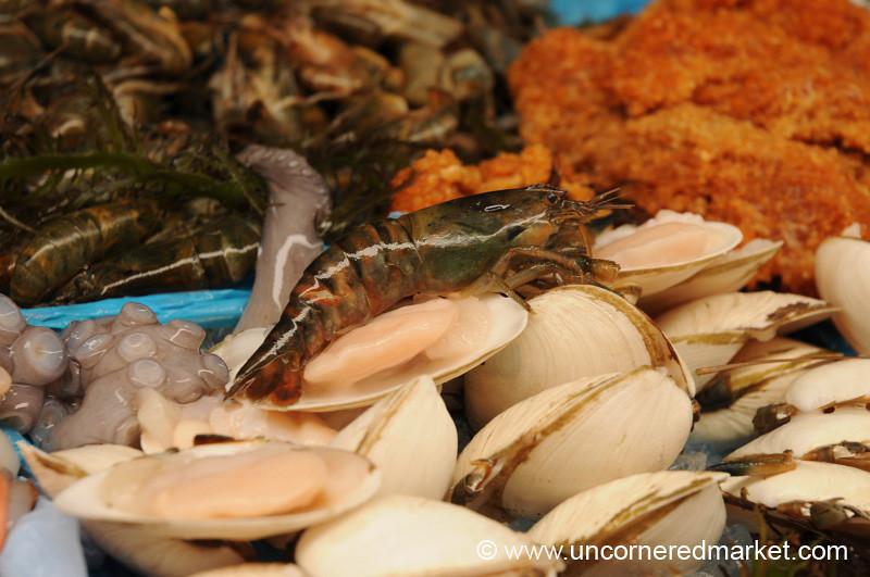 Crayfish at Surquillo Market - Lima, Peru
