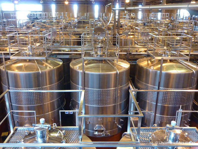 Fermentation Vats at Bodega del Fin del Mundo outside Neuquen, Argentina