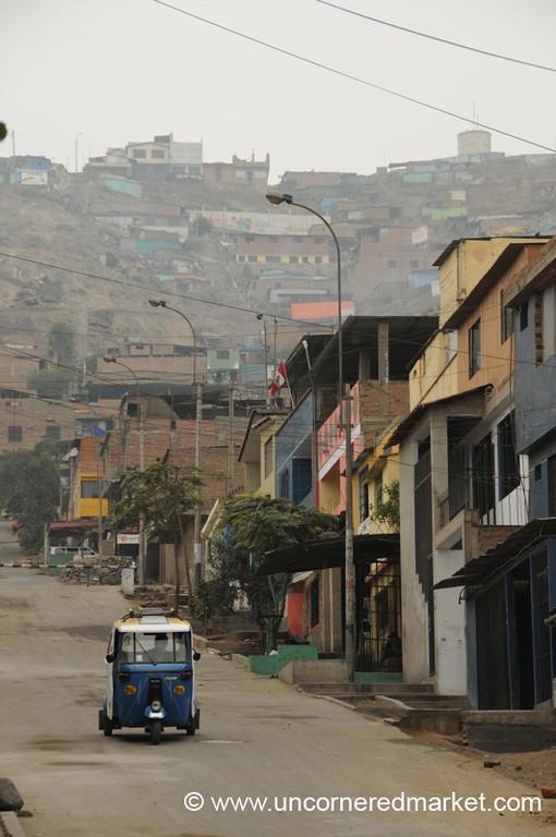 Street Scene in San Juan de Miraflores - Lima, Peru