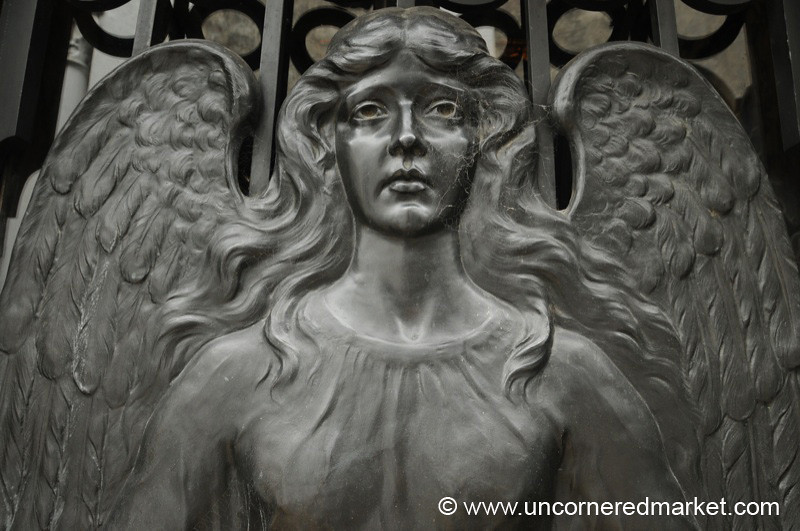 An Angel at Recoleta Cemetery - Buenos Aires, Argentina