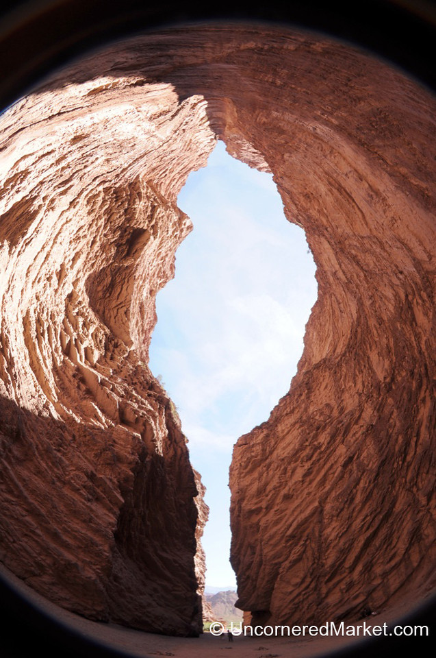 A Fisheye View of the Devil's Throat - Between Cafayate and Salta, Argentina
