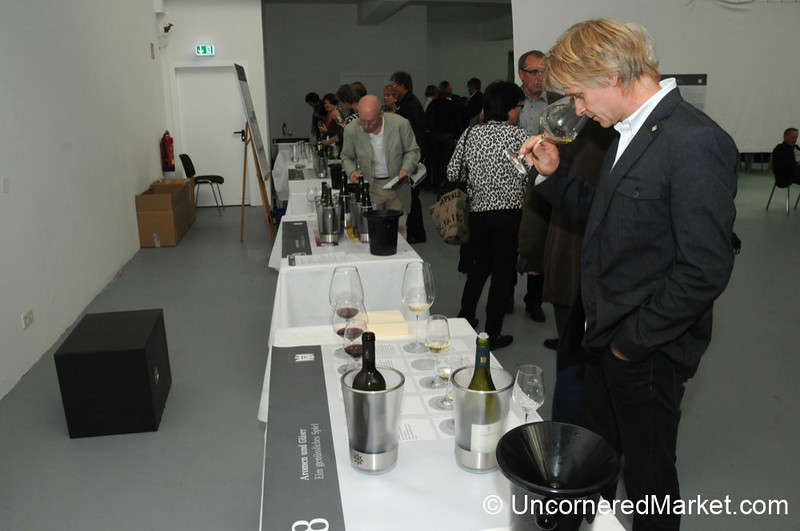 Smelling Wines in Different Styles of Glasses - VDP's 100th Anniversary Events in Berlin, Germany