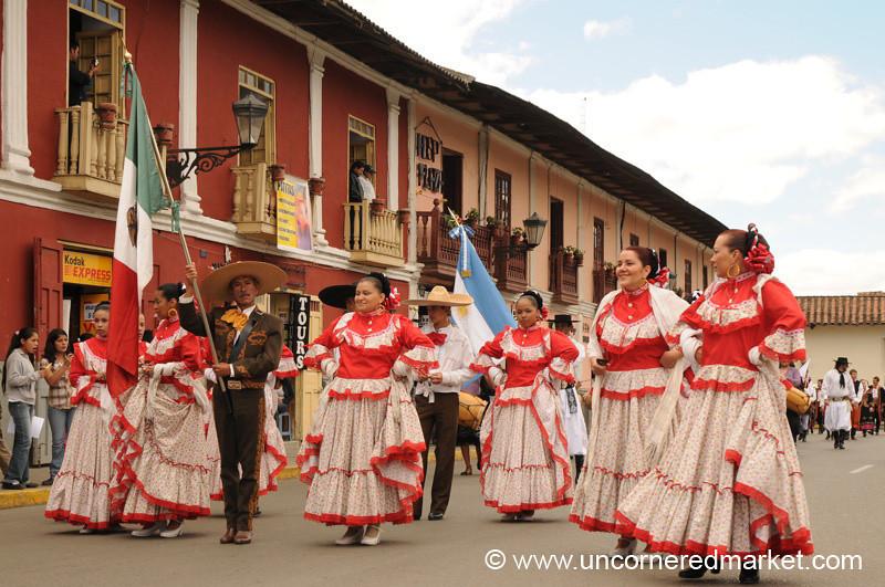A Man and His Ladies - Cajamarca, Peru