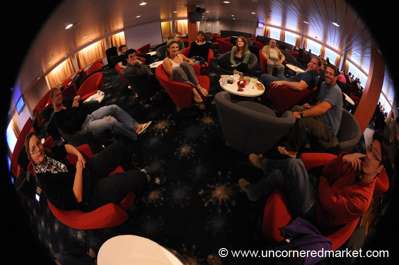 Hanging in the Expedition Lounge - Antarctica