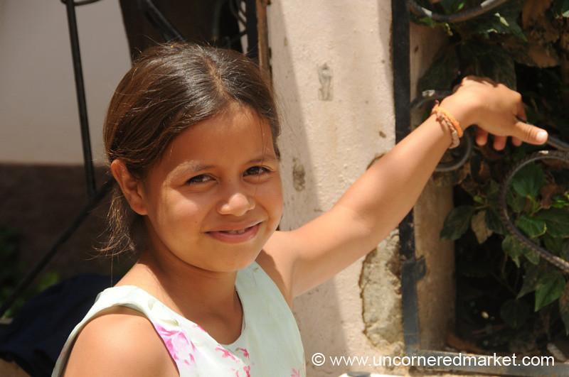 Honduran Girl Breaking a Smile - La Esperanza, Honduras