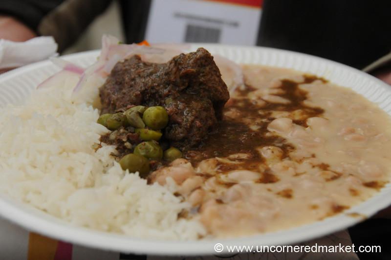 Frejoles con Seco - Mistura Gastronomy Festival in Lima, Peru