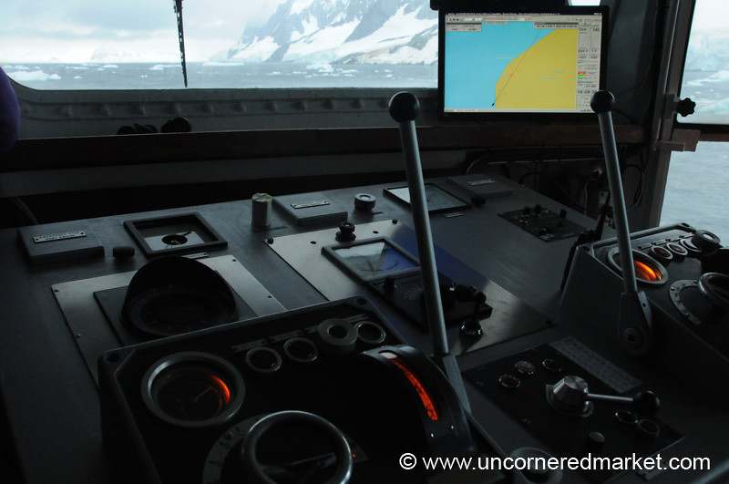 Navigating through Lemaire Channel - Antarctica
