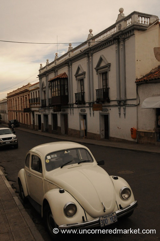 A VW Bug in Sucre, Bolivia