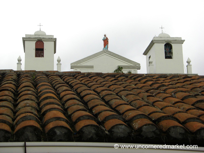 Roofside View of Church - Alegria, El Salvador