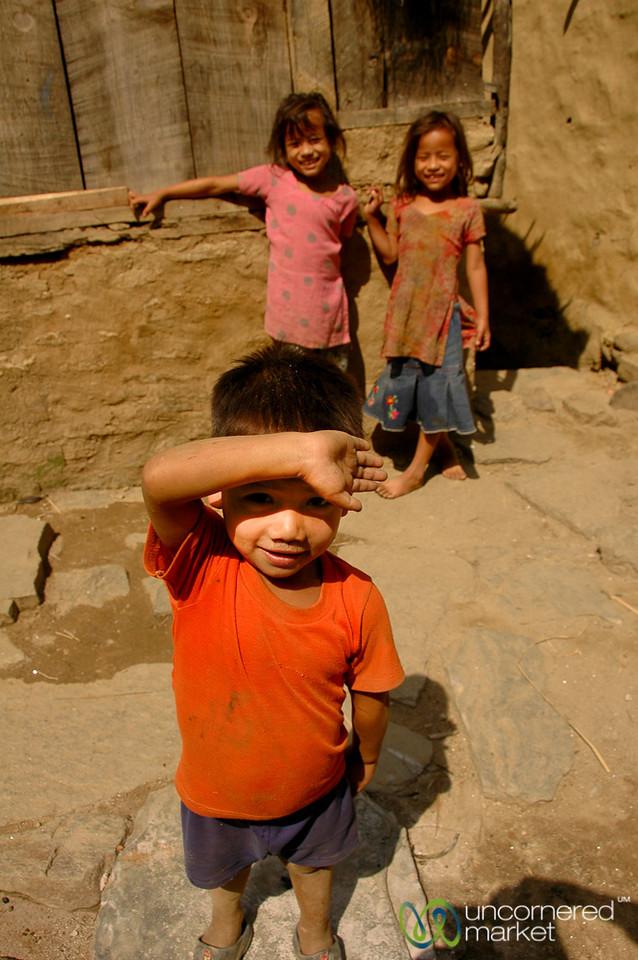 Excited Kids - Annapurna Circuit, Nepal