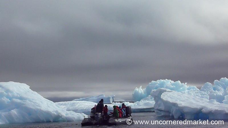 Zodiac Ride Through the Icebergs - Antarctica