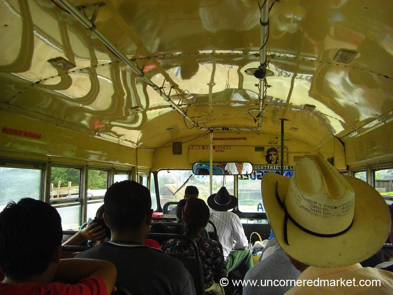 Inside the Chicken Bus - Marcala, Honduras