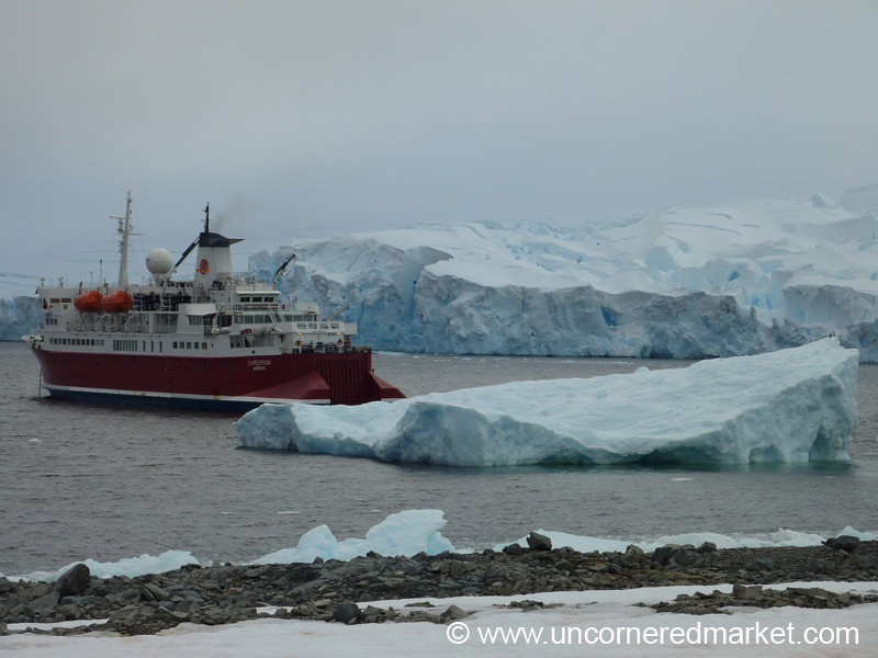 The MS Expedition Amidst Icebergs and Glaciers - Antarctica