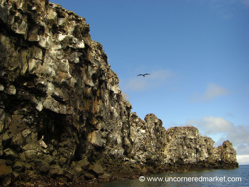 Volcanic Cliffs at Genovesa Island - Galapagos