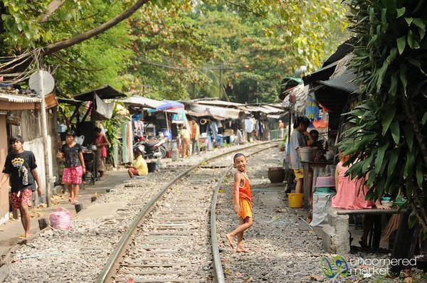 Life Near the Tracks - Yommarat, Bangkok