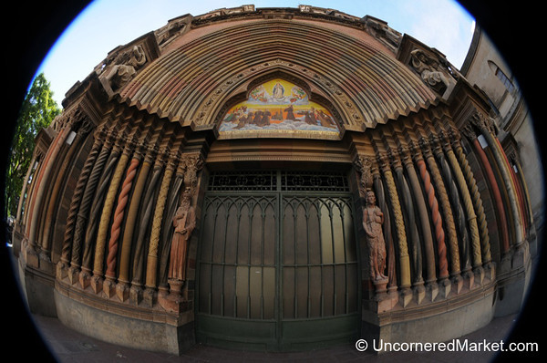 Fisheye Entrance to Iglesia de los Capuchinos - Cordoba, Argentina