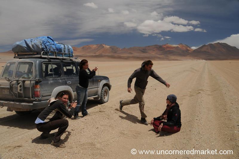 Goofing in the Desert - Salar Tour, Bolivia