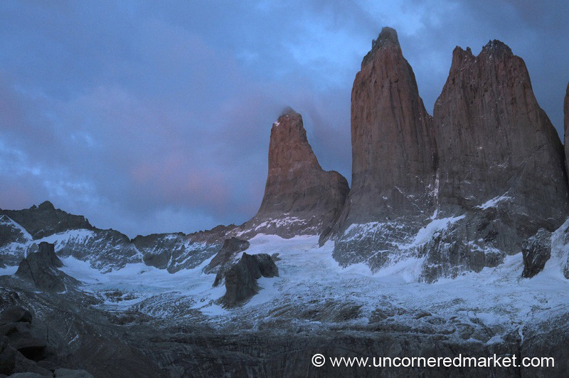 Early Morning at the Towers - Torres del Paine National Park, Chile