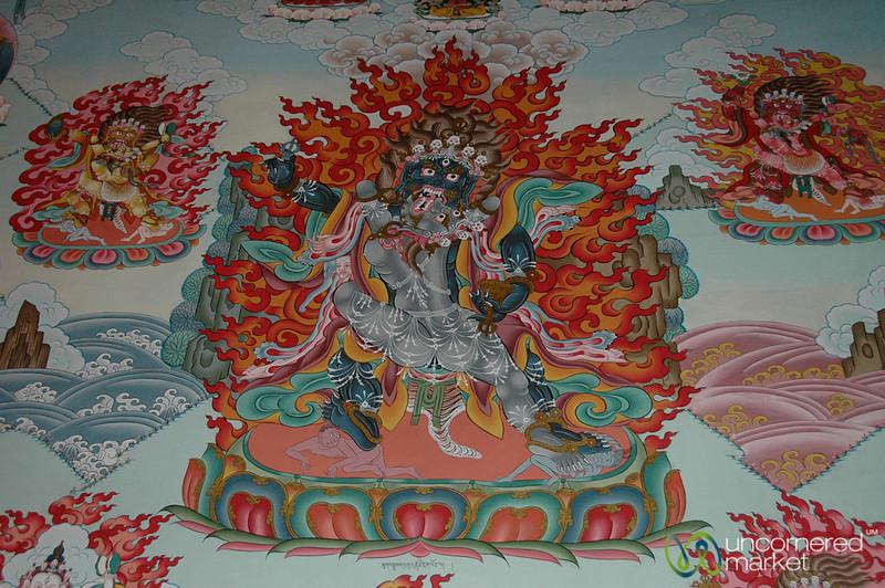 Paintings Inside the Tibetan Buddhist Gompa - Upper Pisang, Nepal
