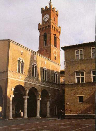 Municipal Building in Pienza, Italy