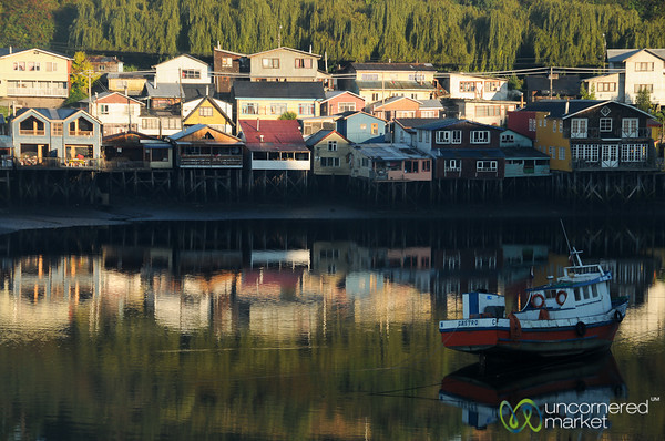 Early Morning Over the Palifitos in Castro - Chiloe, Chile
