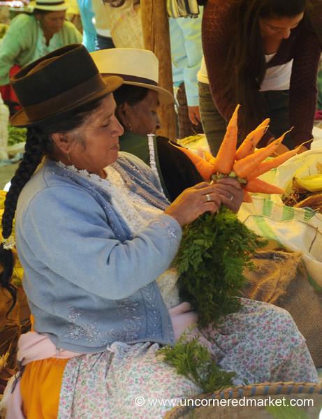 Grooming Her Carrots - Chordeleg, Ecuador