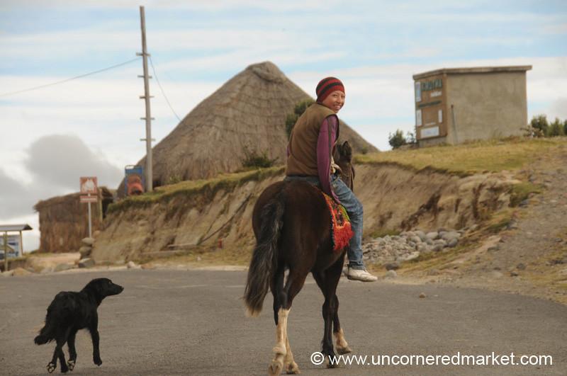 Horse Transportation - Quilotoa Loop, Ecuador