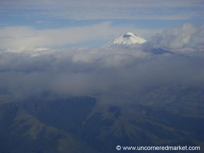 Flying into Quito, Ecuador