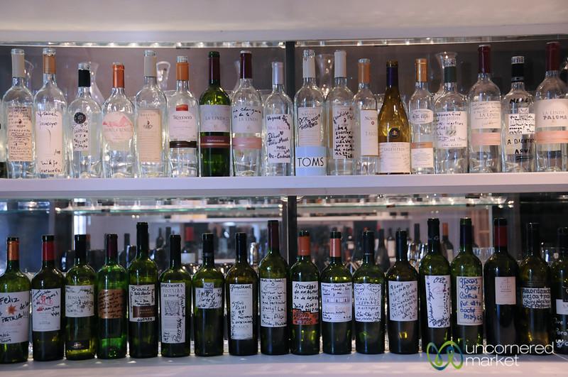Wine Bottles as Art - Mendoza, Argentina