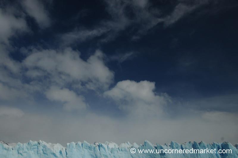 Thin Line of Glacier - El Calafate, Argentina