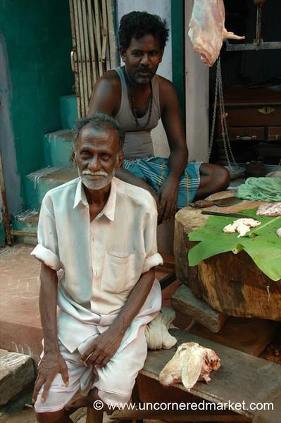 Madurai, India: Men and Meat