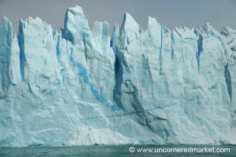 Textured Ice at Perito Moreno Glacier - El Calafate, Argentina